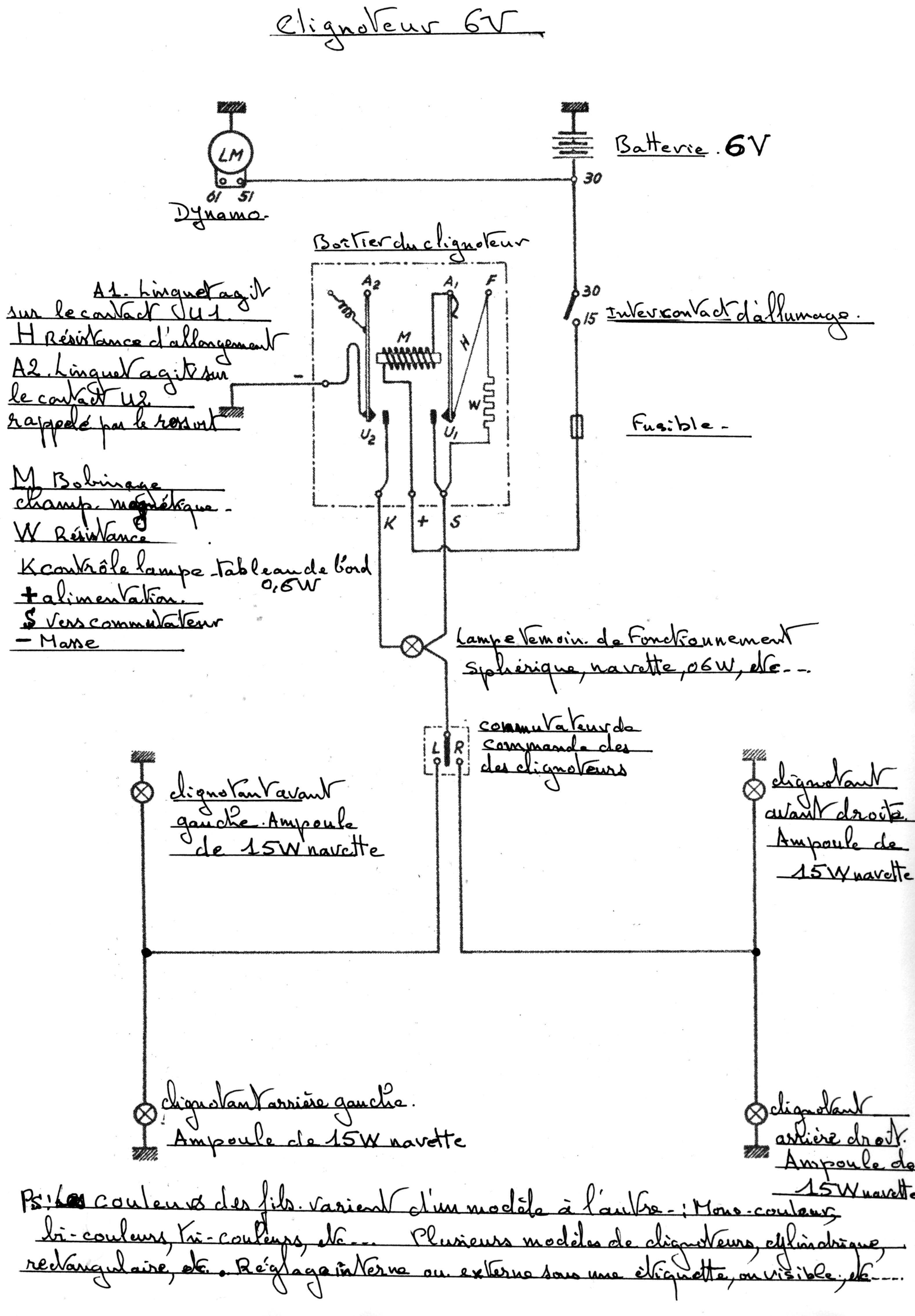 restauration moteur ancien opel des années 60 Clignoteur_6V